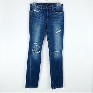 Joe's Jeans Straight Leg Distressed Jeans